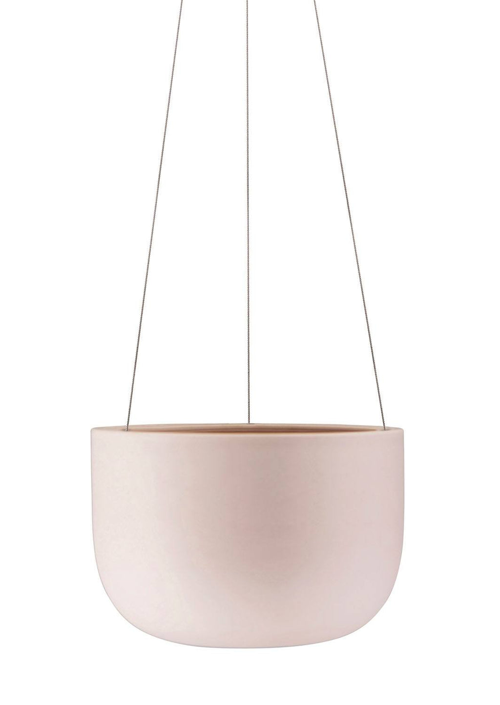 "8"" Angus & Celeste Raw Earth Hanging Planter in Rock Salt Pink"
