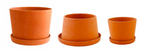 "2-4"" Michiko Shimada Set of 3 Mini Planters in Terracotta - Set B"