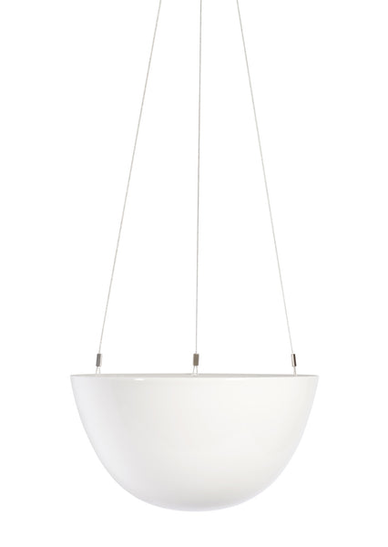 "8"" Hanging Planter in White"