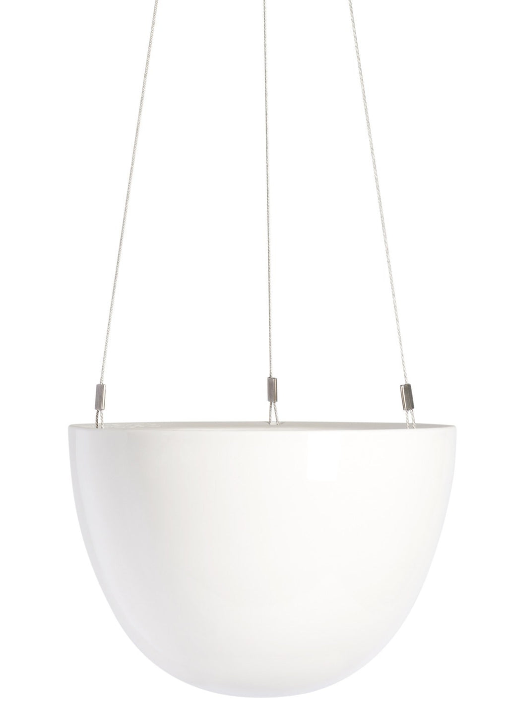 "6"" Angus & Celeste Hanging Planter in White"