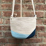 "6"" Closed Mondays Hanging Planter in Navy Blue"