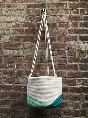 Closed Mondays Hanging Planter - Large in Teal