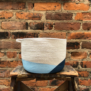 Closed Mondays - Medium Basket in Navy Blue
