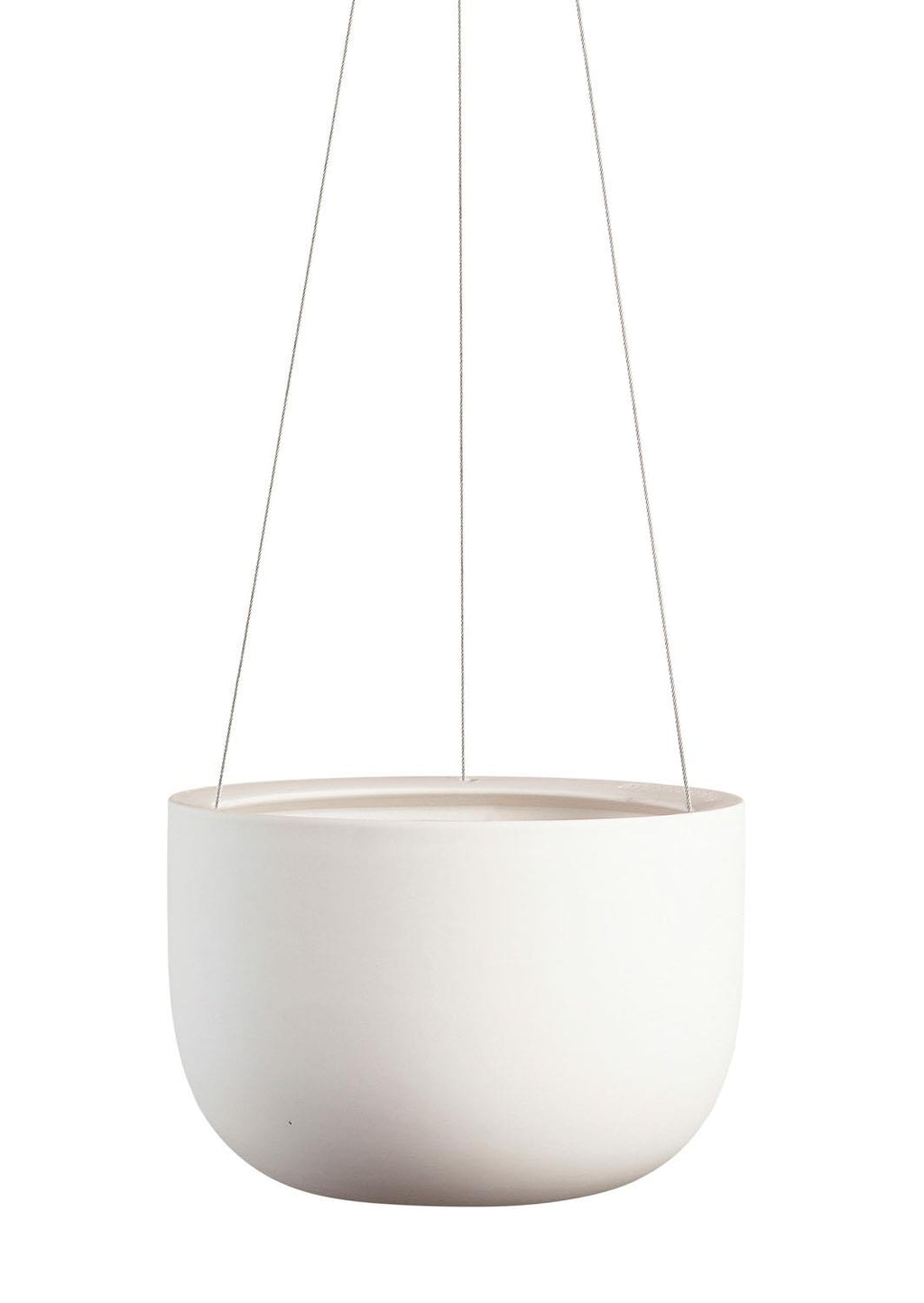 "8"" Angus & Celeste Raw Earth Hanging Planter in Chalk White"