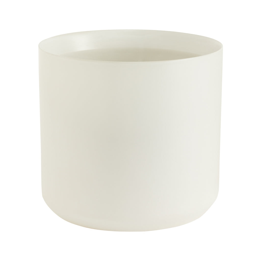 "10"" Cylinder Pot in White"