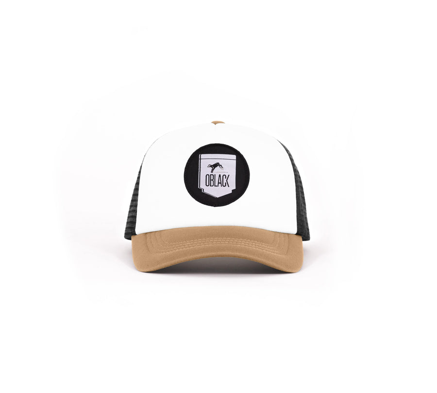 Gorra Trucker Beige Dallas - Oblack Caps