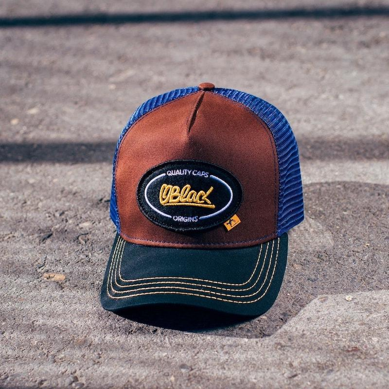 Trucker Origins Brown Cap - Oblack Caps