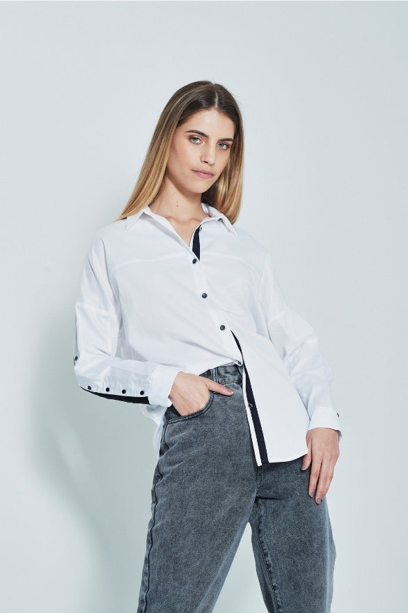 French freddie Womens batwing designer shirt for work