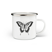 Load image into Gallery viewer, Butterfly Enamel Mug