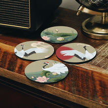 Load image into Gallery viewer, Cranes Coasters Set