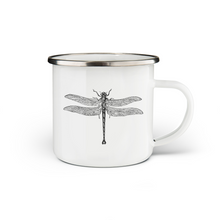Load image into Gallery viewer, Dragonfly Enamel Mug