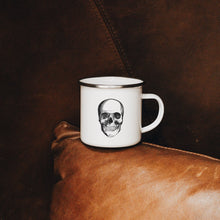 Load image into Gallery viewer, Skull Enamel Mug