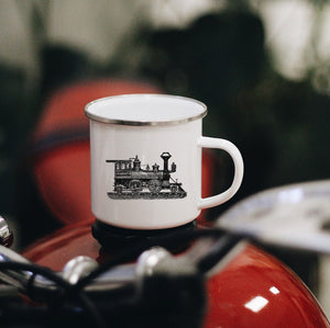 Train Enamel Mug