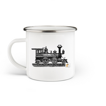 Load image into Gallery viewer, Train Enamel Mug