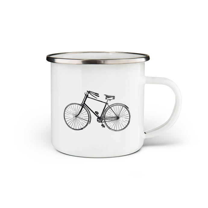 Bicycle Enamel Mug