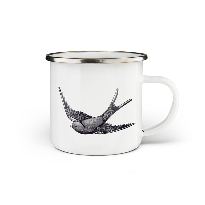 Swallow Enamel Mug