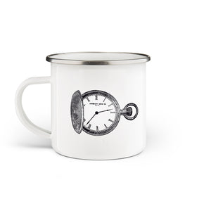 Pocket Watch Enamel Mug