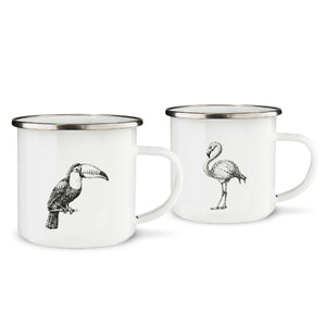 Tropical Birds Mugs Set