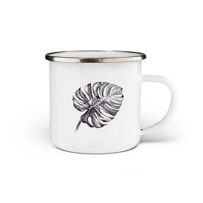 Monstera Enamel Mug