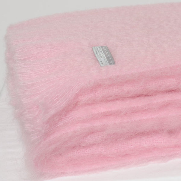 Mohair Throw Candy Floss