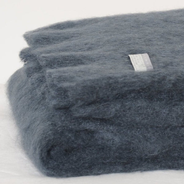 Mohair Throw Charcoal