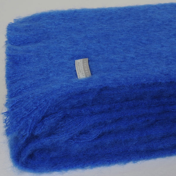 Mohair Throw Cobalt