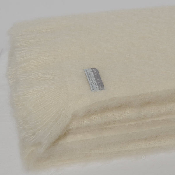 Mohair Throw Cream