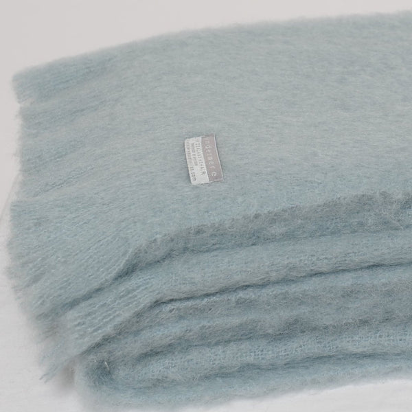 Mohair Throw Glacier