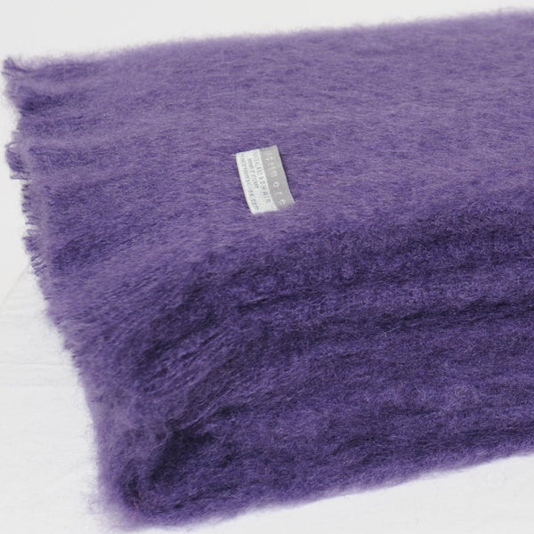 Mohair Blanket Grape