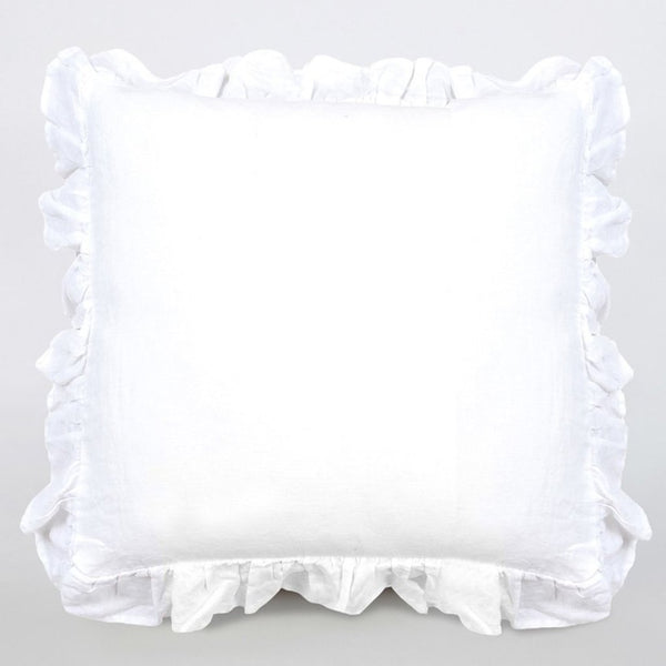 Linen Frill Cushion 30% OFF!