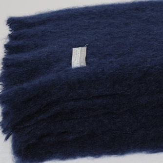 Mohair Throw Navy - 15% OFF!