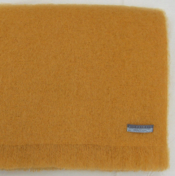 Mohair Throw Ochre