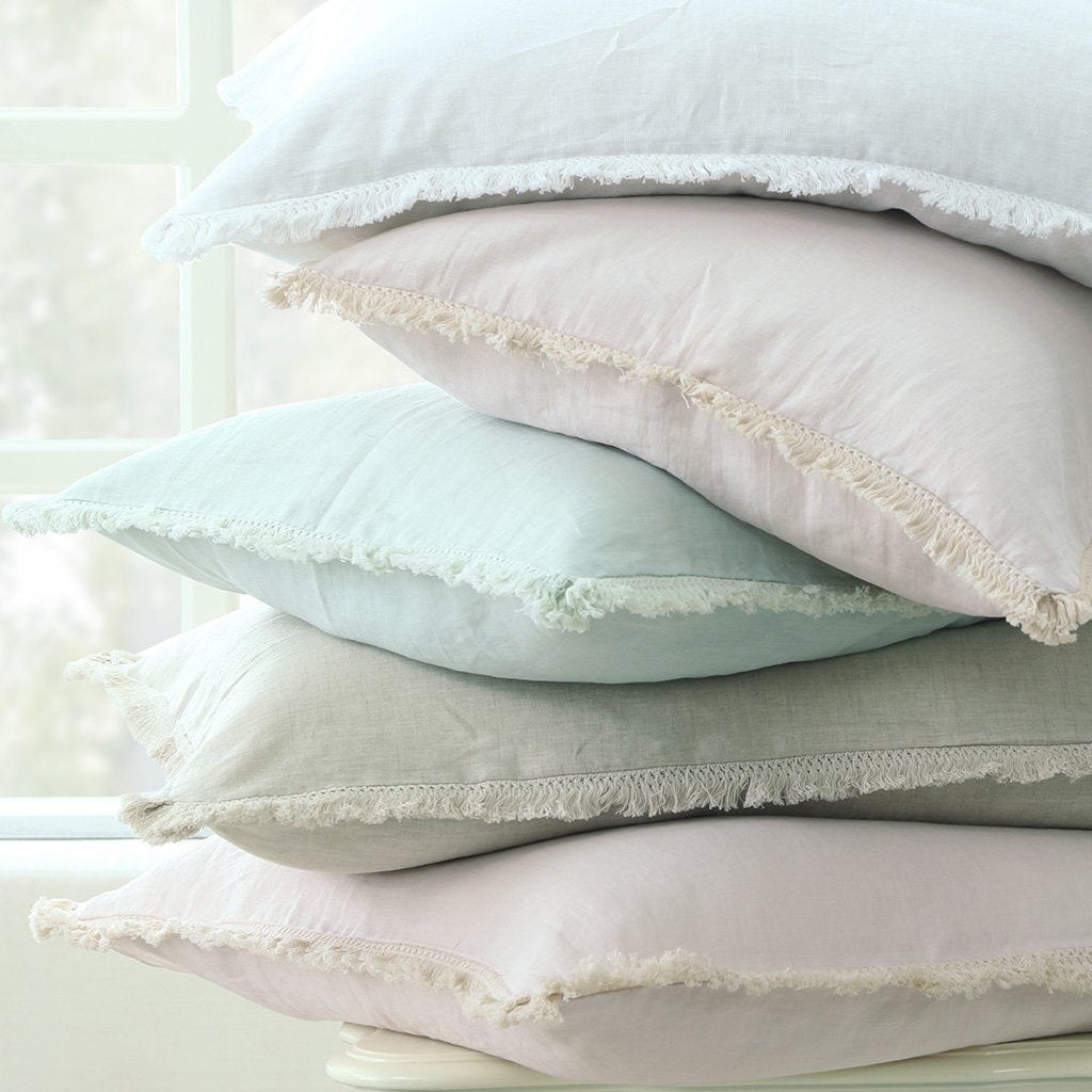 Laundered Linen Tassel Pillowcase Set