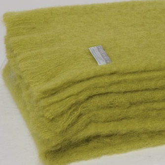 Mohair Throw Pesto