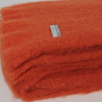Mohair Throw Pumpkin