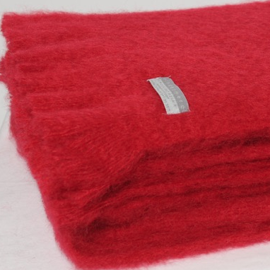 Mohair Blanket Ruby