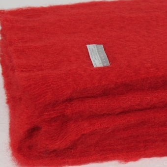 Mohair Throw Scarlet
