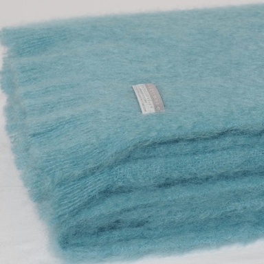Mohair Blanket Sea Spray