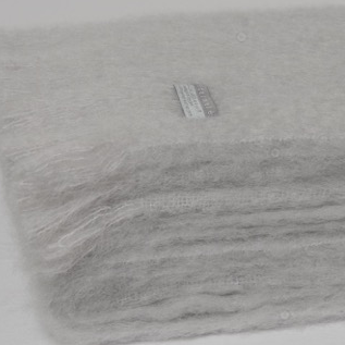Mohair Throw Silver