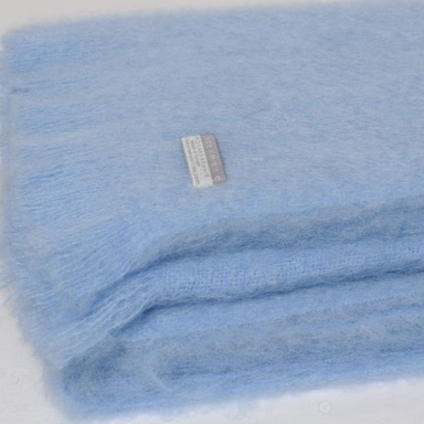 Mohair Throw Sky