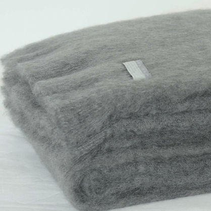 Mohair Throw Slate
