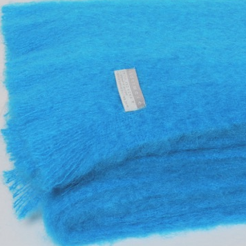Mohair Throw Turquoise