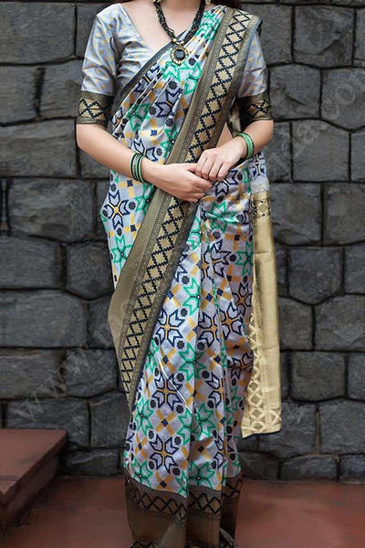 Adhesive Multi Color Soft Silk Designer Saree