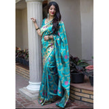 Trendy Sky Blue Color Soft Silk Designer Saree