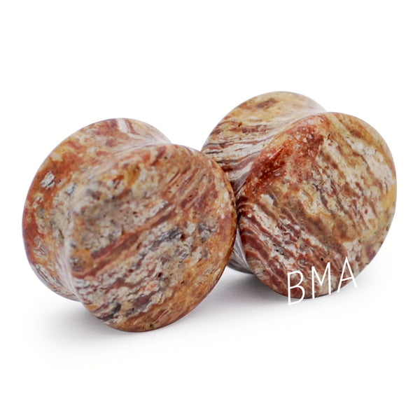brown jasper plugs