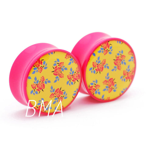 pink and yellow plugs