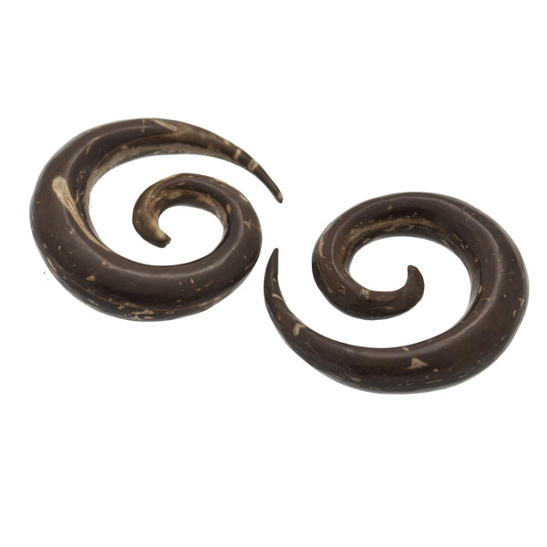 Coco Spiral Wood Plugs (0g) #7453