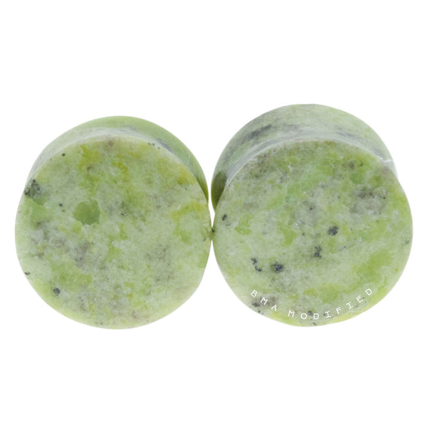 serpentine stone plugs