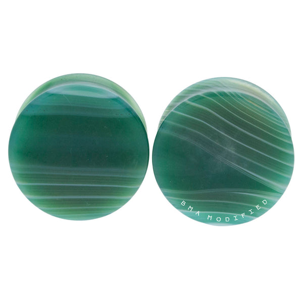 green agate plugs