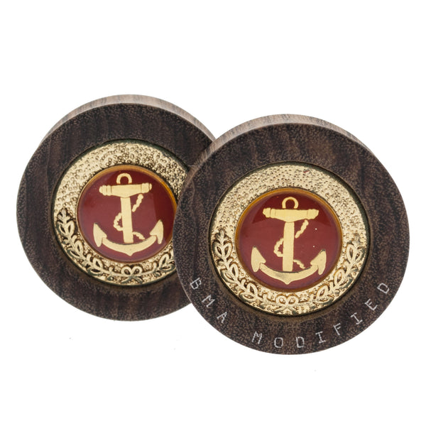 "Red Anchor Inlay Wood Plugs (1 1/4"") #7636"